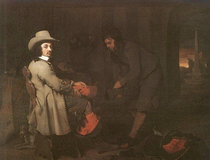 Michael Sweerts Seated Man with a Youth and a Servant in an Interior Germany oil painting art