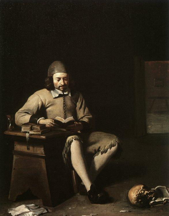 Michael Sweerts Penitent Reading in a Room Germany oil painting art