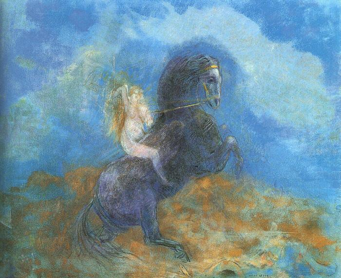 Odilon Redon The Valkyrie Germany oil painting art