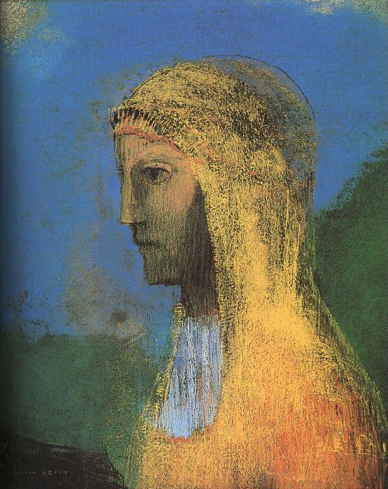 Odilon Redon The Druidess Germany oil painting art