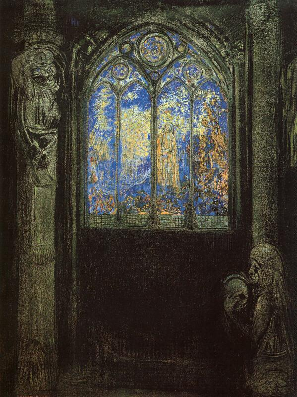 Odilon Redon Stained Glass Window Germany oil painting art