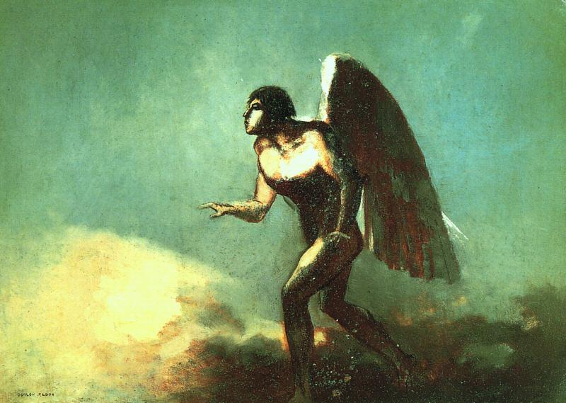 Odilon Redon The Winged Man Germany oil painting art