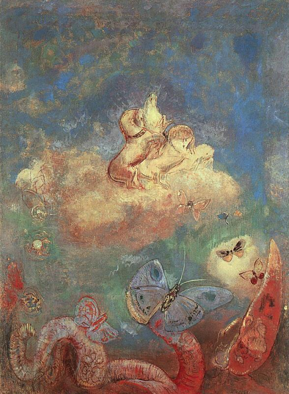 Odilon Redon The Chariot of Apollo Germany oil painting art