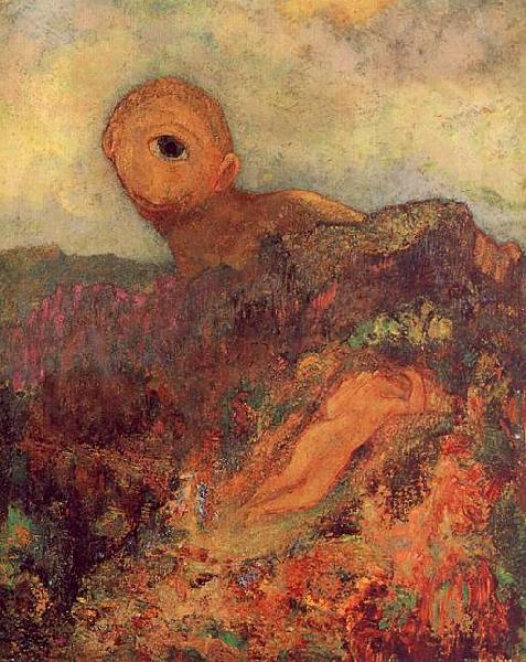 Odilon Redon The Cyclops Germany oil painting art
