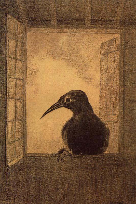 Odilon Redon The Raven Germany oil painting art