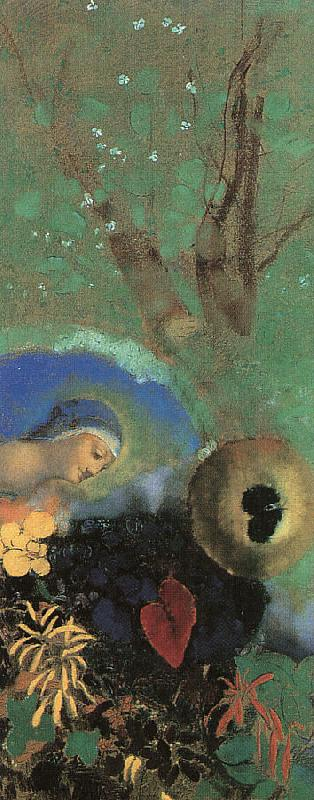 Odilon Redon Homage to Leonardo da Vinci Germany oil painting art