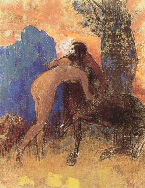 Odilon Redon Struggle Between Woman and a Centaur Germany oil painting art