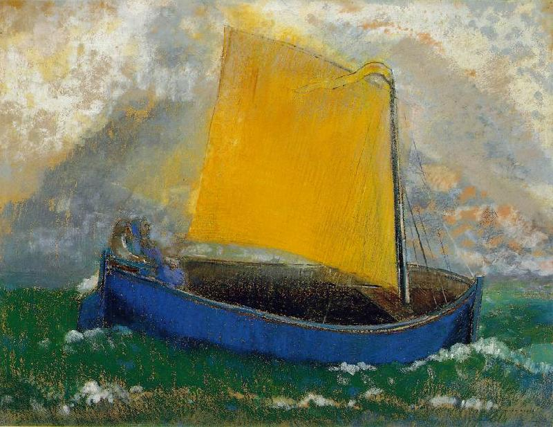 Odilon Redon The Mystical Boat Germany oil painting art