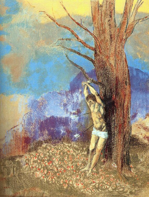 Odilon Redon Saint Sebastian Germany oil painting art