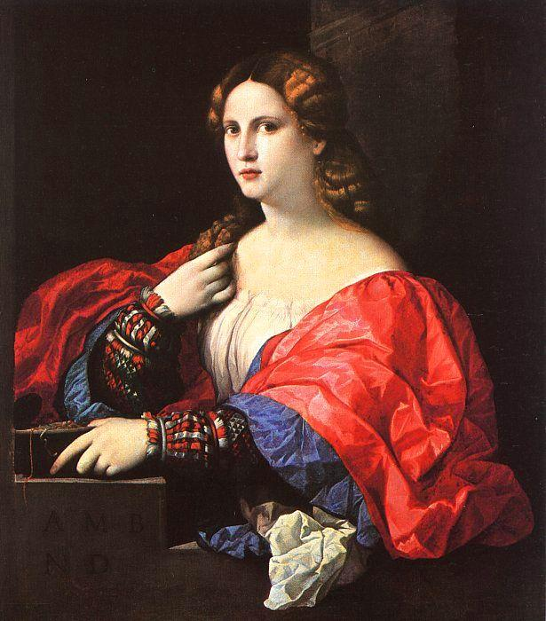 Palma Vecchio Portrait of a Woman oil painting image