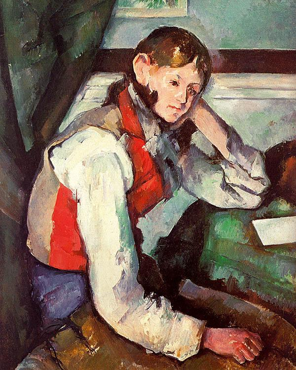 Paul Cezanne Boy in a Red Waistcoat oil painting image