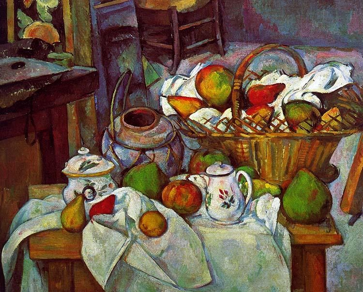 Paul Cezanne Vessels, Basket and Fruit oil painting image