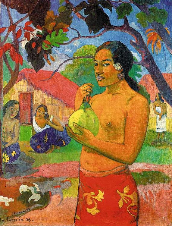 Paul Gauguin Woman Holding a Fruit oil painting image