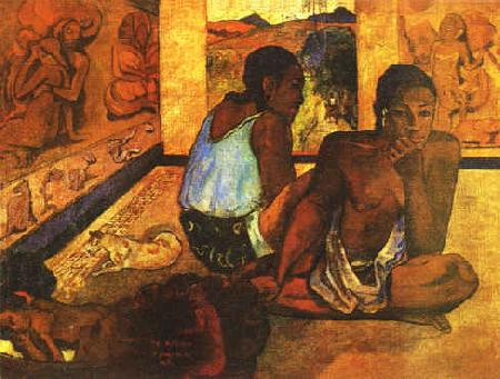 Paul Gauguin  Daydreaming oil painting image