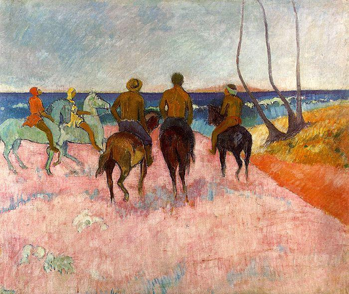 Paul Gauguin Riders on the Beach oil painting image