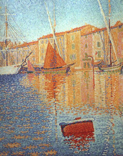 Paul Signac Red Buoy Germany oil painting art
