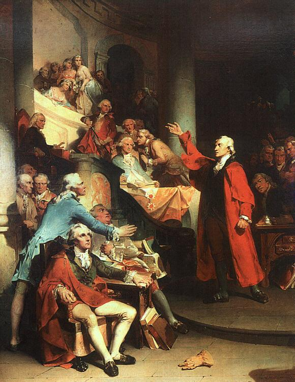 Peter F Rothermel Patrick Henry in the House of Burgesses of Virginia, Delivering his Celebrated Speech Against the St Germany oil painting art