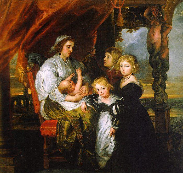 Peter Paul Rubens Deborah Kip and her Children Germany oil painting art