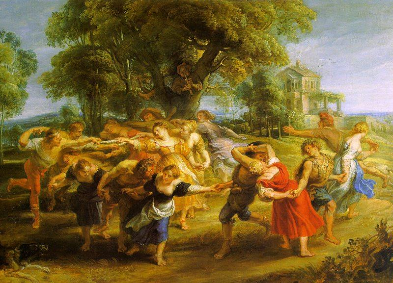 Peter Paul Rubens A Peasant Dance Germany oil painting art