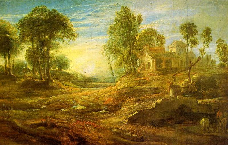 Peter Paul Rubens Landscape with a Watering Place Germany oil painting art