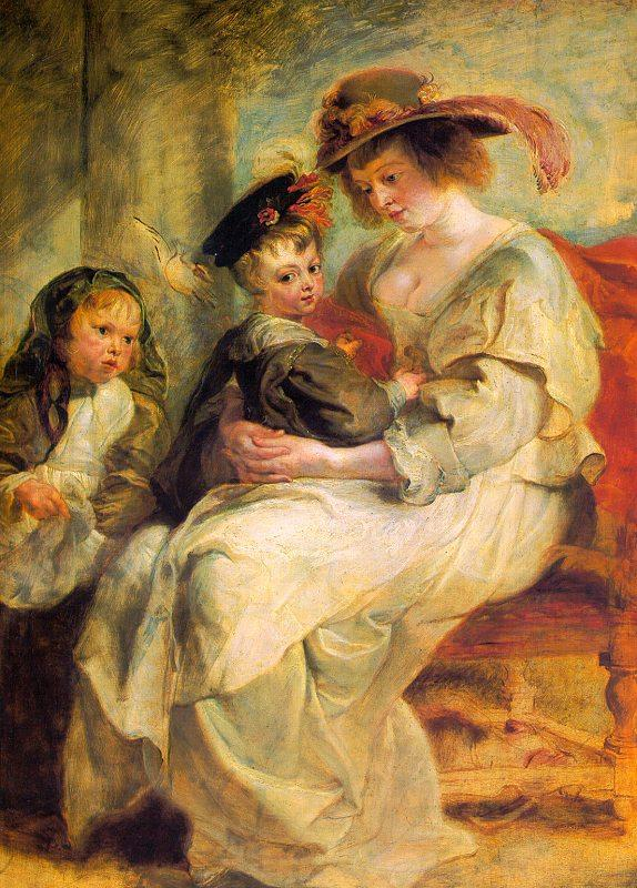 Peter Paul Rubens Helene Fourment and her Children, Claire-Jeanne and Francois Germany oil painting art