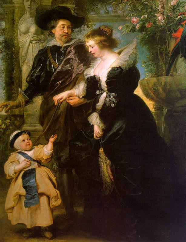 Peter Paul Rubens Rubens with his Wife, Helene Fourmont and Their Son, Peter Paul Germany oil painting art