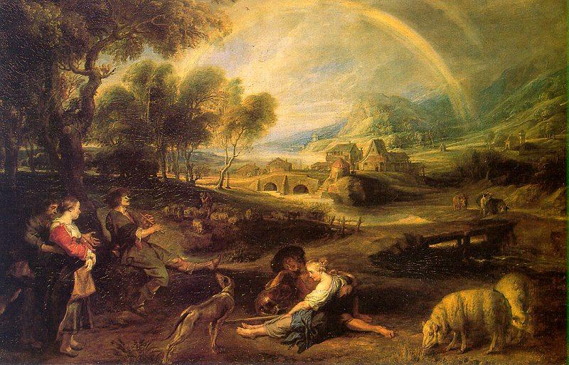 Peter Paul Rubens Landscape with a Rainbow Germany oil painting art