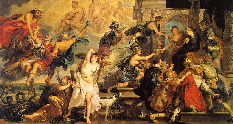 Peter Paul Rubens The Apotheosis of Henry IV and the Proclamation of the Regency of Marie de Medici on the 14th of May Germany oil painting art