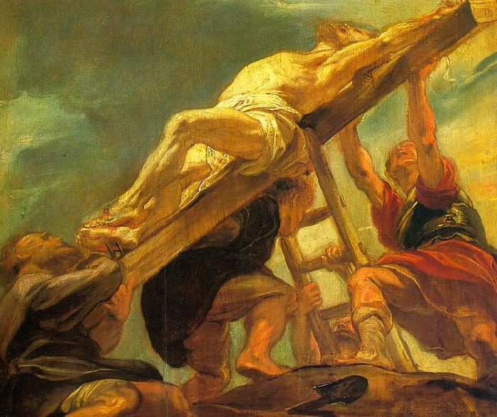 Peter Paul Rubens The Raising of the Cross Germany oil painting art