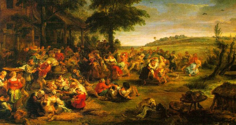 Peter Paul Rubens The Village Wedding Germany oil painting art