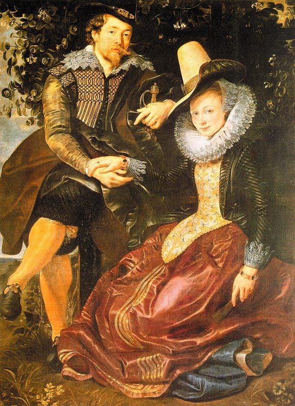 Peter Paul Rubens Rubens with His First Wife, Isabella Brandt, in the Honeysuckle Bower Germany oil painting art