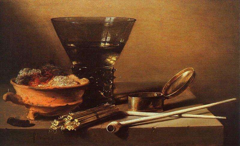Petrus Christus Still Life with Wine and Smoking Implements oil painting image