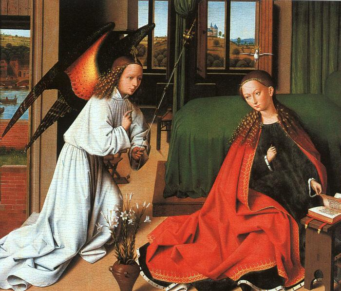 Petrus Christus Annunciation1 oil painting image
