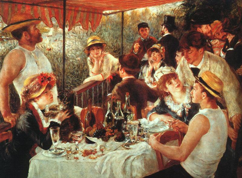 Pierre Renoir Luncheon of the Boating Party Germany oil painting art