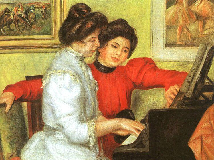 Pierre Renoir Yvonne and Christine Lerolle Playing the Piano Germany oil painting art