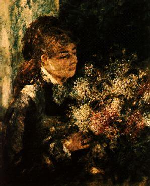 Pierre Renoir Woman with Lilacs Germany oil painting art