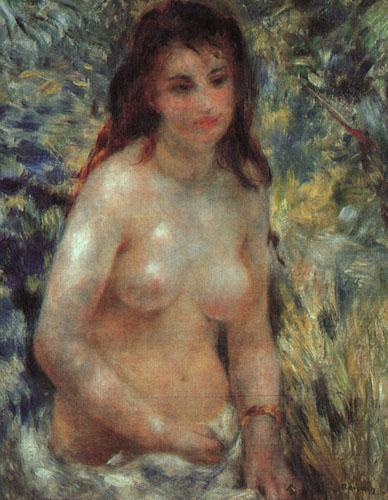 Pierre Renoir Study for Nude in the Sunlight oil painting image