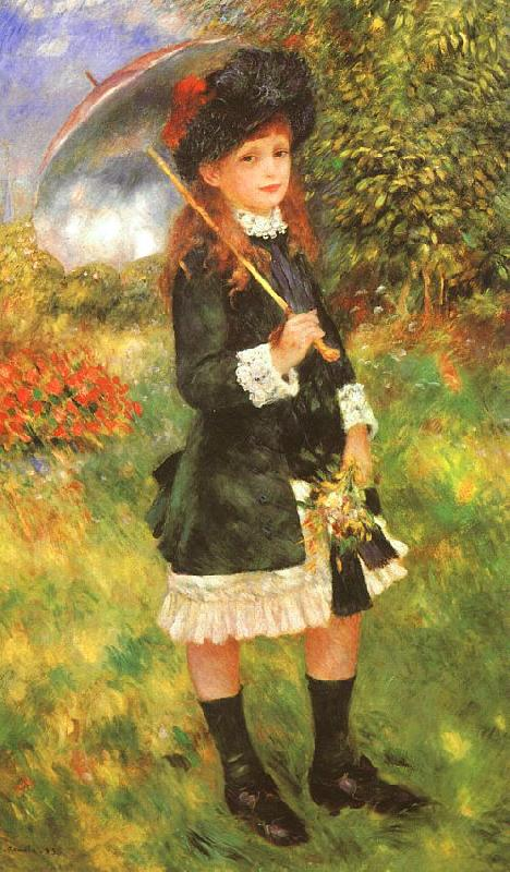 Pierre Renoir Young Girl with a Parasol Germany oil painting art
