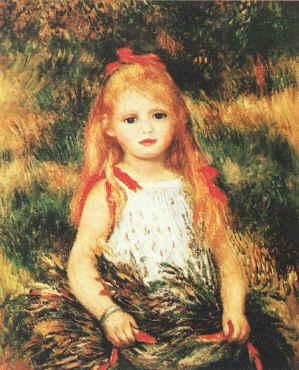 Pierre Renoir Girl with Sheaf of Corn Germany oil painting art