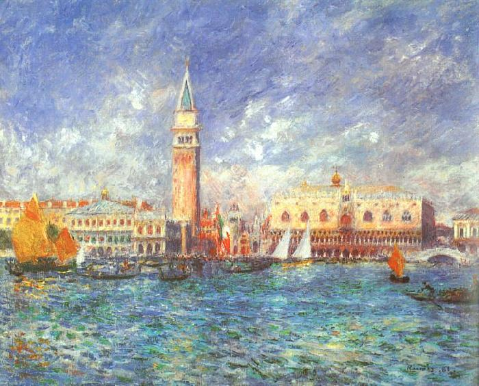 Pierre Renoir Doges' Palace, Venice Germany oil painting art