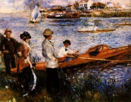 Pierre Renoir Oarsmen at Chatou Germany oil painting art