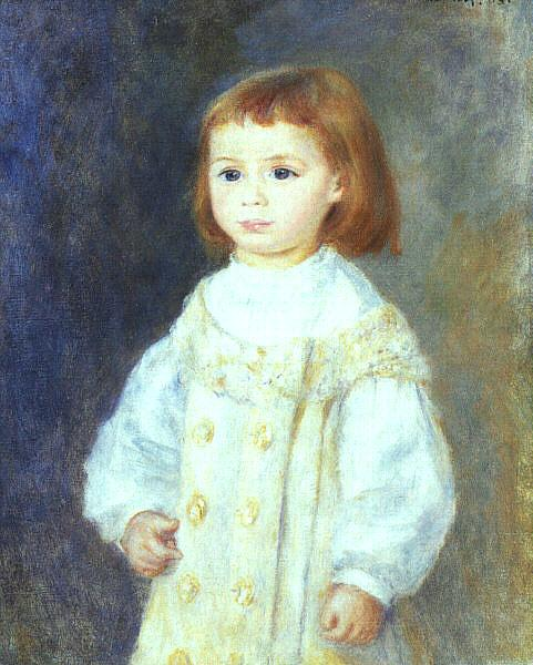 Pierre Renoir Child in White Germany oil painting art