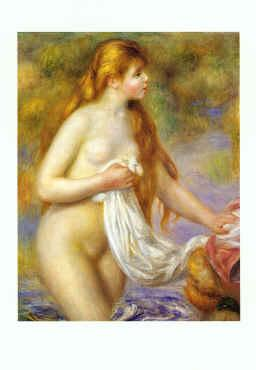 Pierre Renoir Bather with Long Hair Germany oil painting art