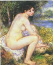 Pierre Renoir  Female Nude in a Landscape oil painting image