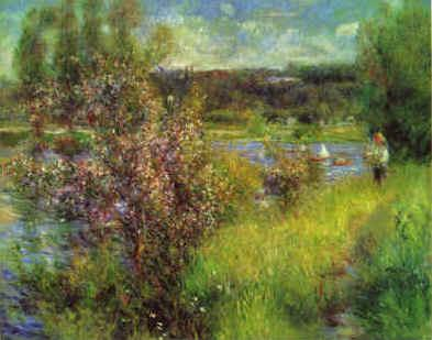 Pierre Renoir The Seine at Chatou Germany oil painting art