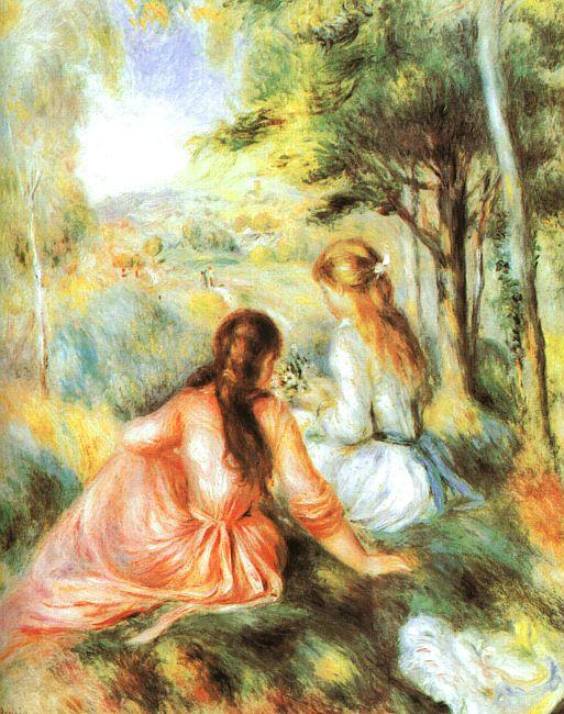 Pierre Renoir In the Meadow Germany oil painting art