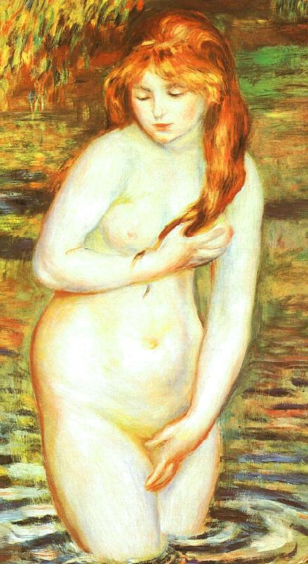 Pierre Renoir Young Woman Bathing Germany oil painting art