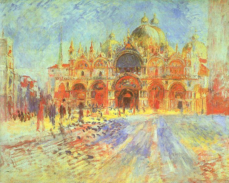 Pierre Renoir Venezia-Piazza San Marco Germany oil painting art