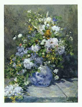 Pierre Renoir Spring Bouquet Germany oil painting art