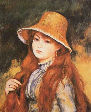 Pierre Renoir Girl and Golden Hat Germany oil painting art